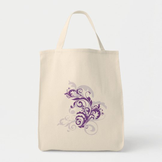 Purple Flourish Bag