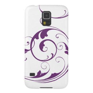 Purple Flourish Case For Galaxy S5