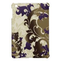 purple flourish girly Ipad case