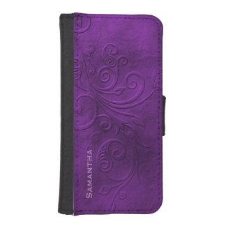 Purple Flourish iPhone 5S Wallet Case