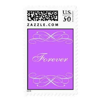 Purple Flourish Scroll - Forever Postage