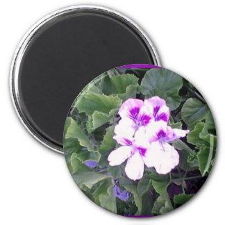 Purple Flower 2 Inch Round Magnet