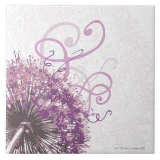 Purple Flower 3 Large Square Tile