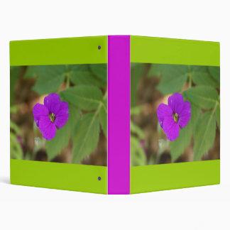 Purple Flower 3 Ring Binder