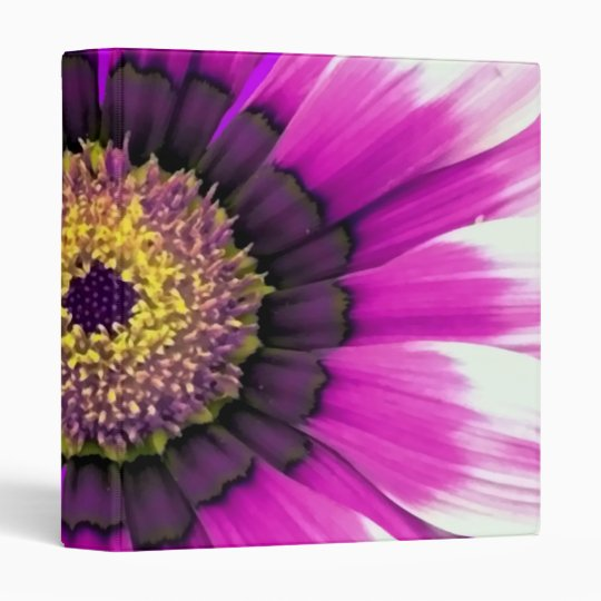 Purple Flower 3 Ring Binder