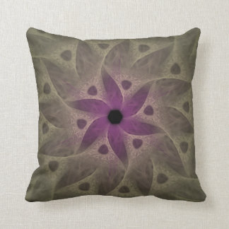 Purple Flower Abstract Throw Pillow