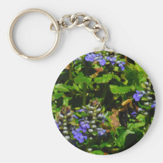 Purple Flower and Bumble Bee Key Chains