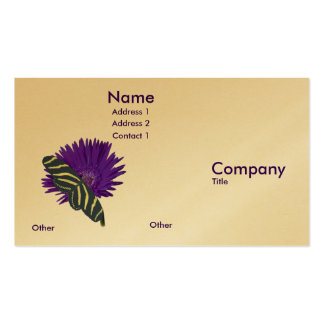 Purple Flower, and Butterfly Business Card