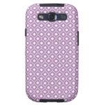 Purple Flower Argyle Pattern 2 Galaxy S3 Case