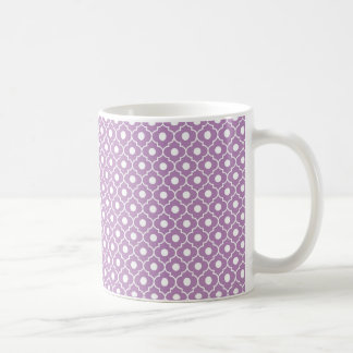 Purple Flower Argyle Pattern Coffee Mug