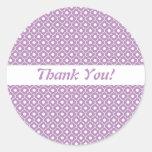 Purple Flower Argyle Pattern Envelope Sticker
