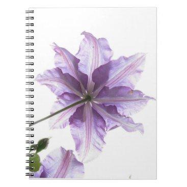 Beach Themed Purple flower art print notebook