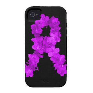 Purple Flower Awareness Ribbon Vibe iPhone 4 Cases