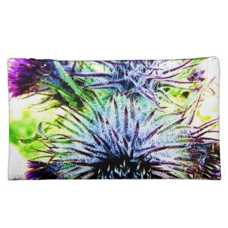 Purple Flower Makeup Bags