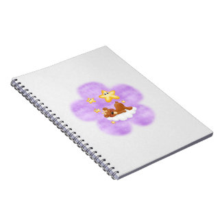 Purple Flower Bear Journal Notebook