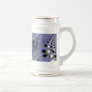 Purple Flower Beer Stein