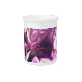 Purple Flower Beverage Pitchers