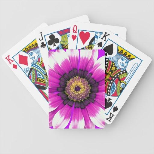 Purple Flower Bicycle Poker Deck