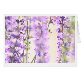 Purple flower blank inside card