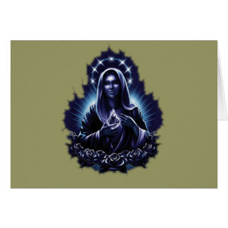 Purple Flower Blessed Virgin Mary Card