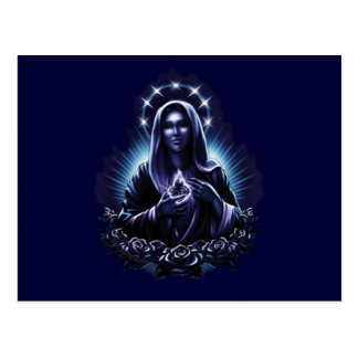 Purple Flower Blessed Virgin Mary Postcard