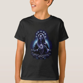 Purple Flower Blessed Virgin Mary T-Shirt