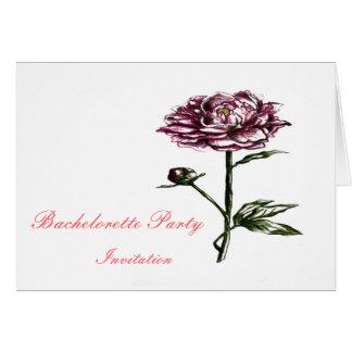 Purple Flower botanical Bachelorette invitation Greeting Card