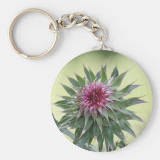 Purple Flower Bud Key Chain