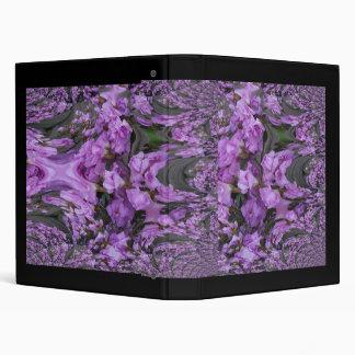 Purple Flower Buds Fractal Binder
