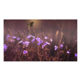 Purple Flower Business Card Templates