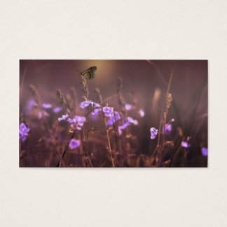 Purple Flower Business Card