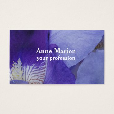 Professional Business Purple Flower Business Card