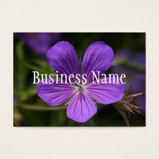 Purple Flower Business Card