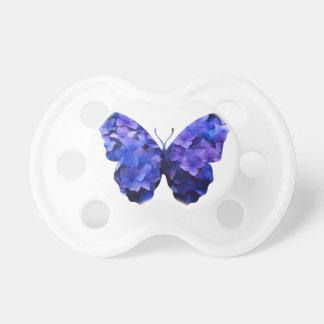 Purple flower butterfly silhouette pacifier