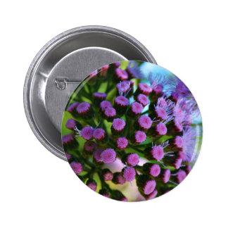 Purple flower pinback buttons