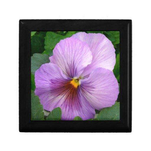 Purple Flower Caja De Recuerdo