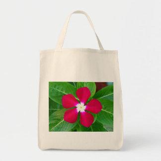 Purple Flower Canvas Bag