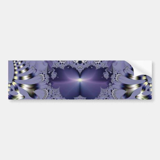 Purple Flower Car Bumper Sticker