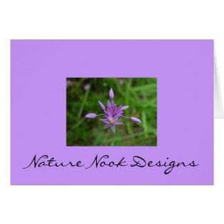 Purple Flower Stationery Note Card