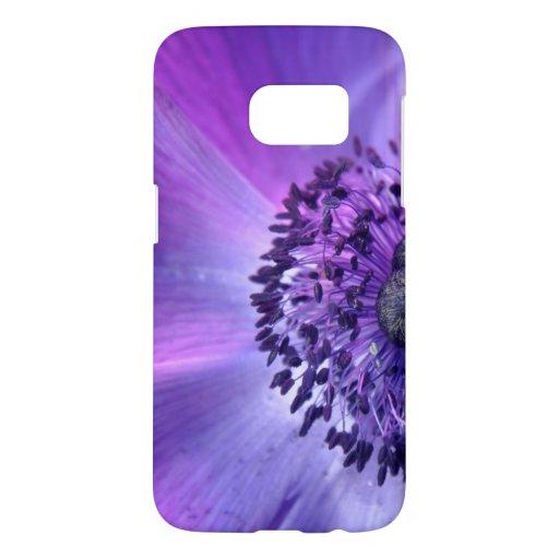 Purple flower samsung galaxy s7 case