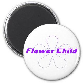 Purple Flower Child 2 Inch Round Magnet