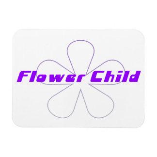 Purple Flower Child Rectangular Photo Magnet
