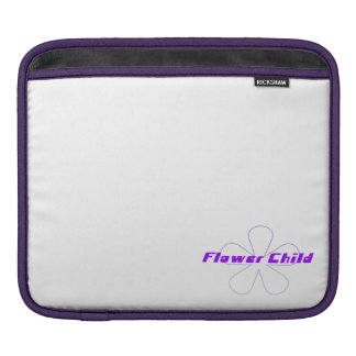 Purple Flower Child Sleeves For iPads
