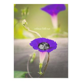 """Purple """"Flower Child"""" Ultrasound Shower Invitation"""