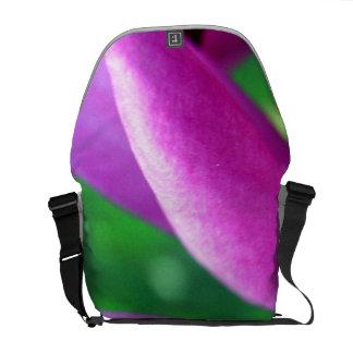 Purple Flower Close Up Messenger Bag