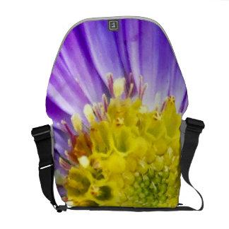 Purple Flower Close Up Courier Bags