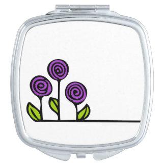 Purple Flower Cosmetic Mirror