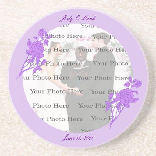 Purple Flower Custom Coaster