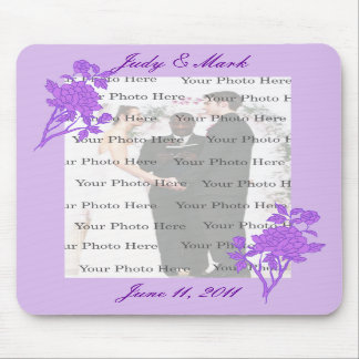 Purple Flower Custom Mouse Pad