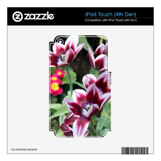Purple Flower Decal For iPod Touch 4G